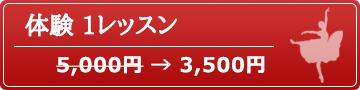 体験 1レッスン 3,000円